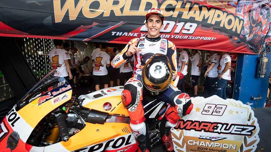 Fotogallery MotoGP: Marc Marquez festeggia l'ottavo Mondiale