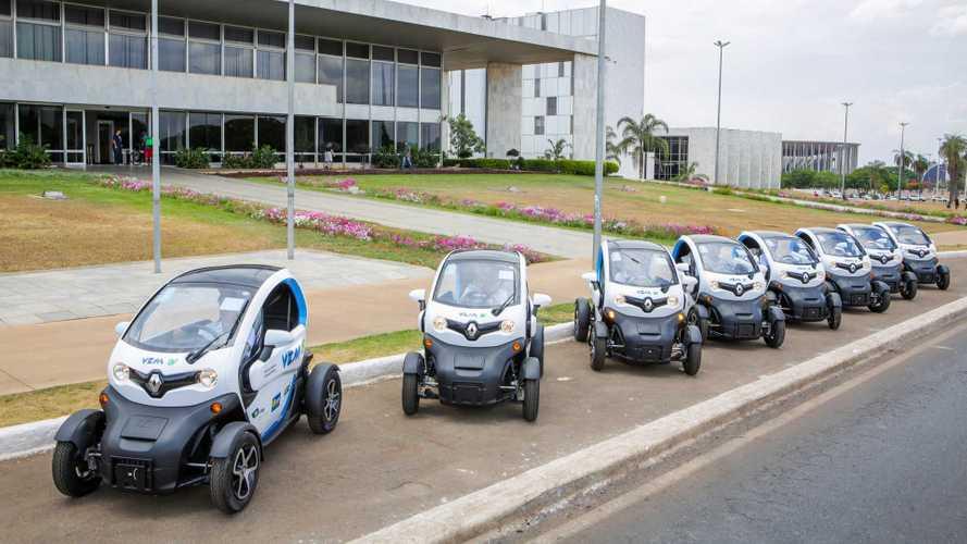 Renault Twizy vira carro compartilhado para servidores em Brasília