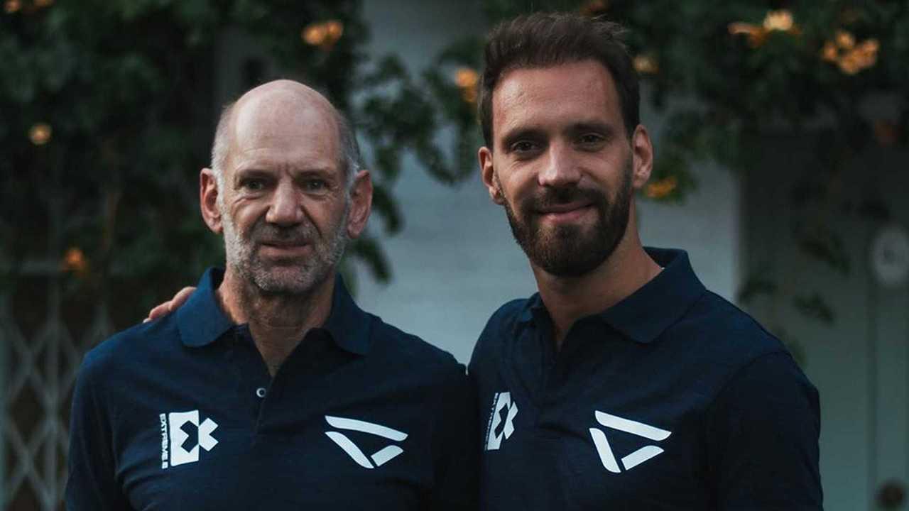 Adrian Newey et Jean-Eric Vergne