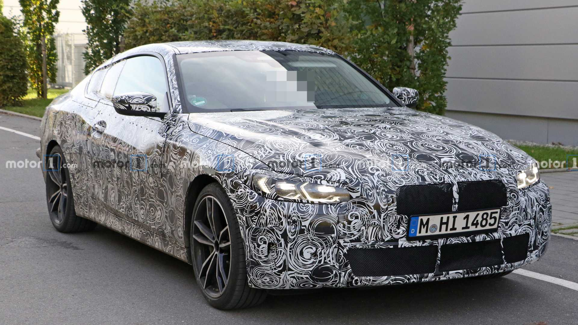BMW 4 Series spied revealing its unconcealed cabin in RHD