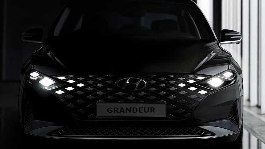 2020 Hyundai Grandeur Teased With Lights Inside Front Grille [UPDATE]