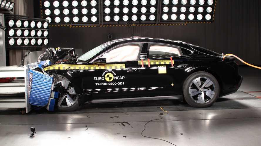 La Porsche Taycan obtient 5 étoiles au crash-test Euro NCAP