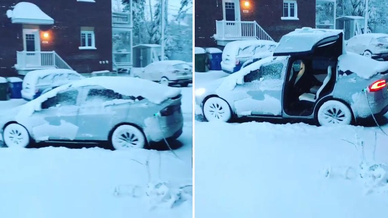 Tesla Model X'in yukarı açılan kapıları karla kaplı olduğunda çalışıyor mu?