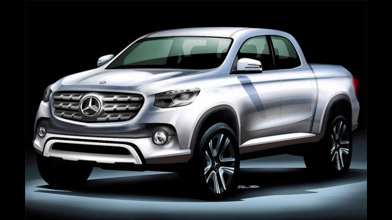 Inédita picape Mercedes Classe X será apresentada em outubro