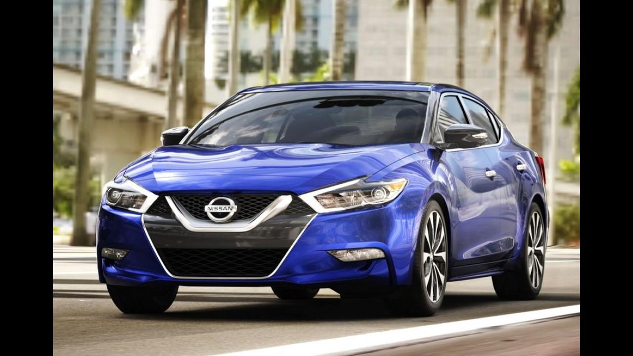 Nissan Maxima 2016 mostra face esportiva e design arrasador - veja fotos