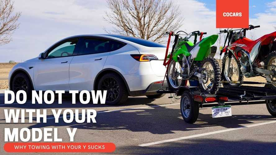 """Should You Tow With A Tesla Model Y? This Owners Says """"No,"""" But Why?"""