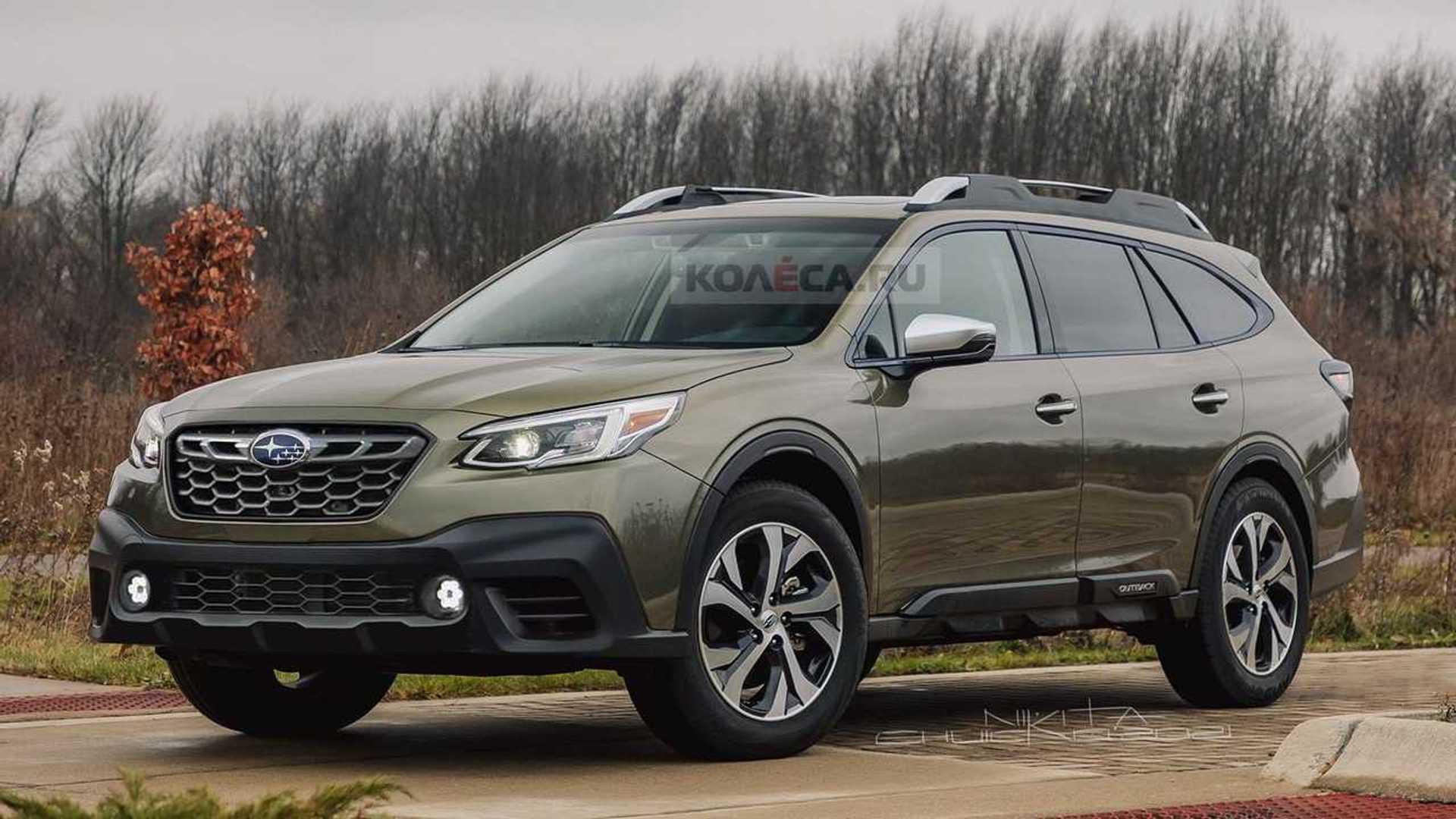 Subaru Outback 2022 года с тонкой подтяжкой лица