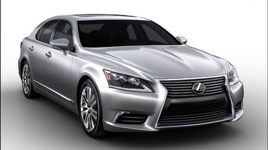 Lexus LS restyling, nuove immagini
