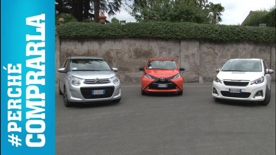 Citroen C1, Peugeot 108, Toyota Aygo: perché comprarle... e perché no [VIDEO]