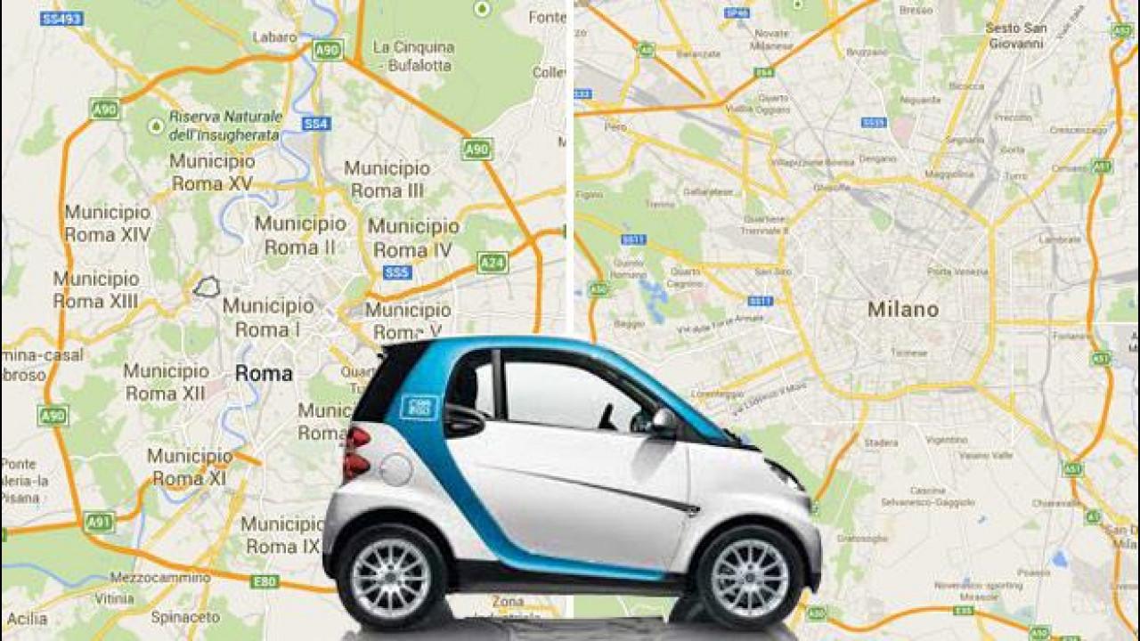 [Copertina] - car2go, un milione di noleggi in Italia