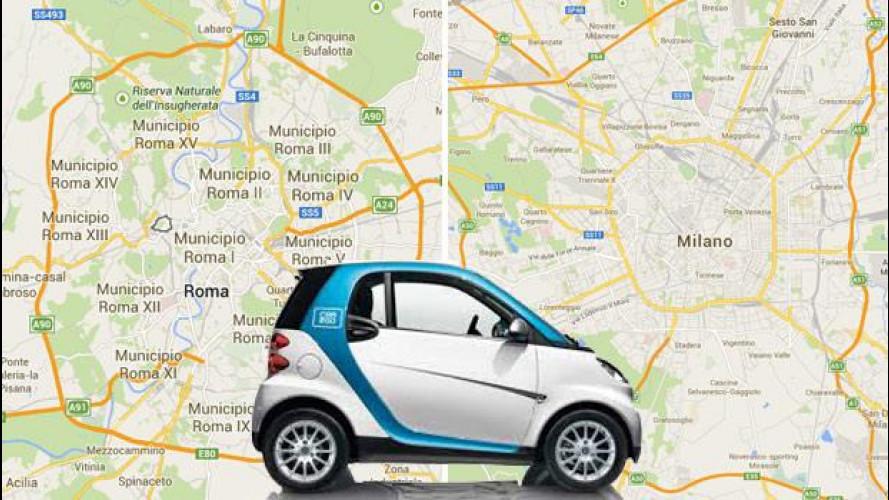 car2go, un milione di noleggi in Italia
