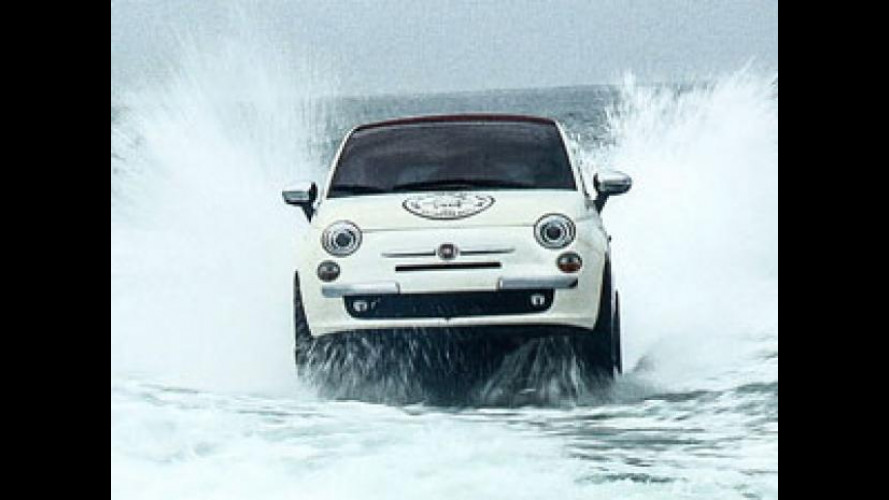 Fiat 500 fa surf in California