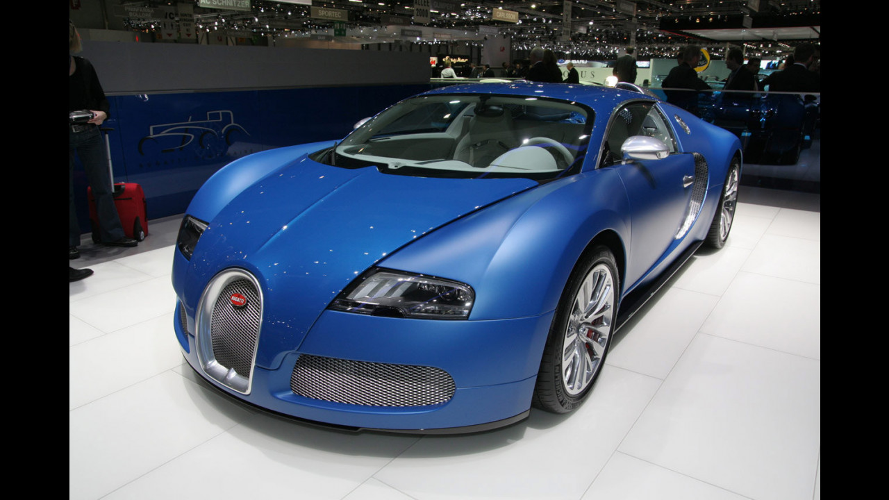 Bugatti Veyron Bleu Centenaire al Salone di Ginevra 2009