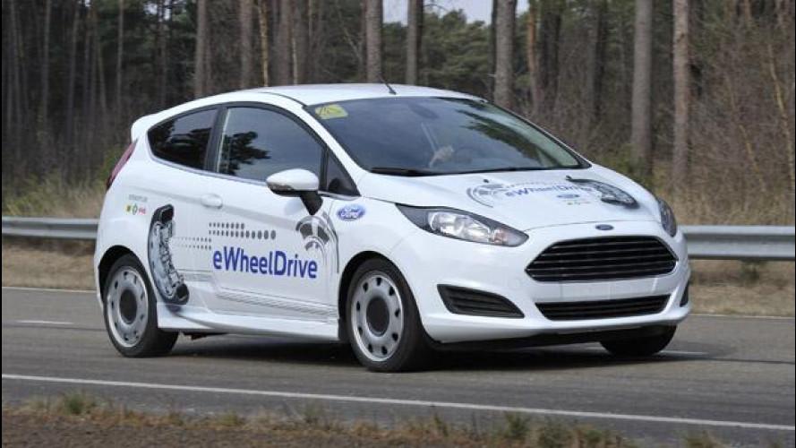 Ford Fiesta eWheelDrive: prove elettriche di futuro