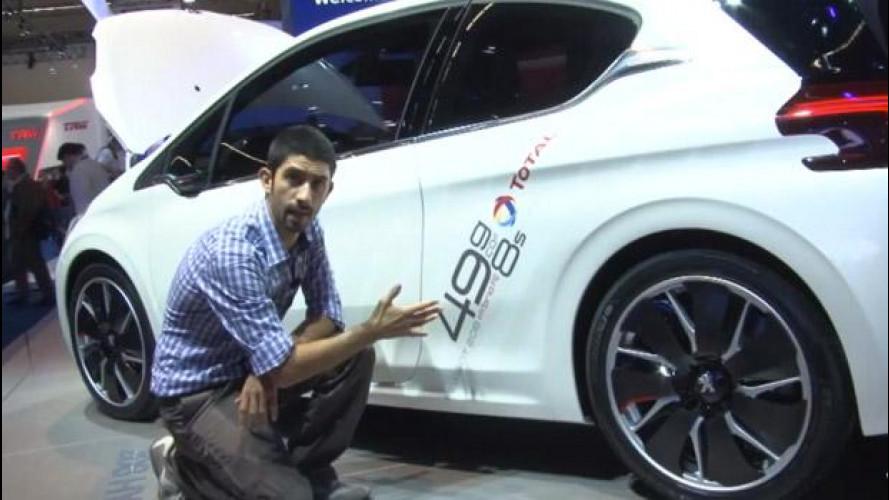 Salone di Francoforte, ecco l'auto da 50 km/litro: Peugeot 208 HYbrid FE [VIDEO]