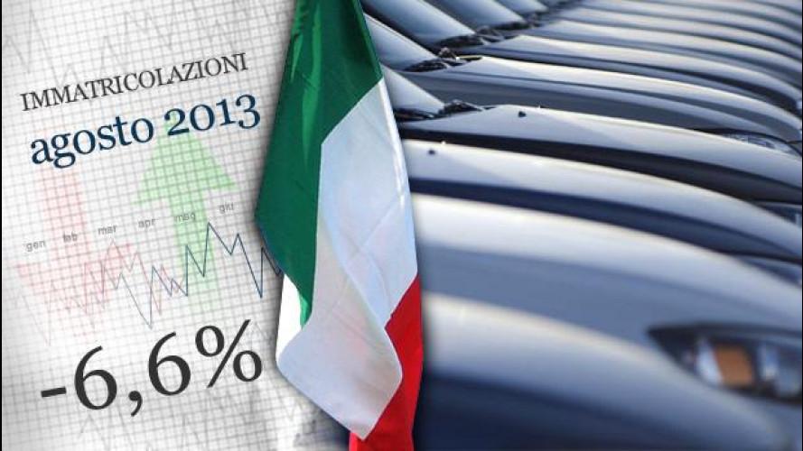Mercato auto: vendite di agosto in peggioramento