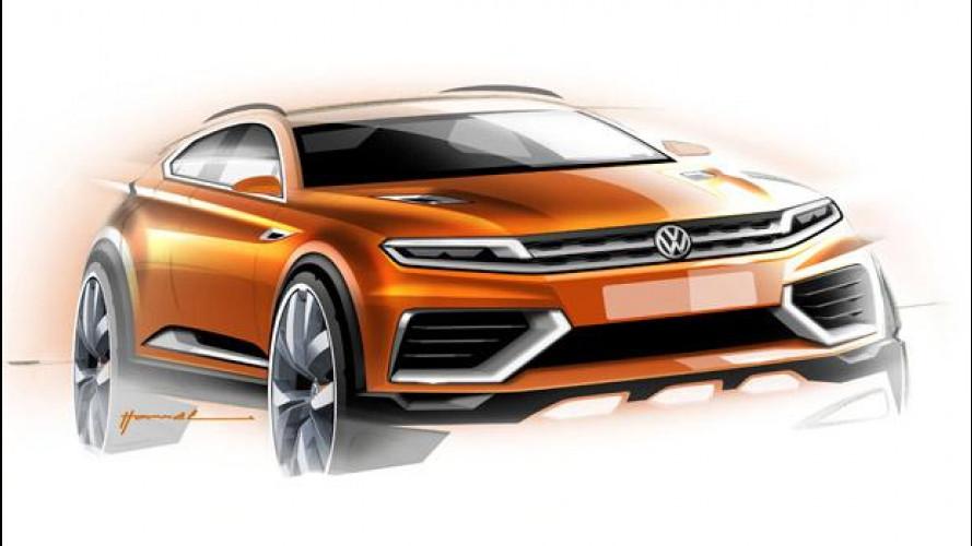 Volkswagen CrossBlue Coupé Concept: i primi disegni