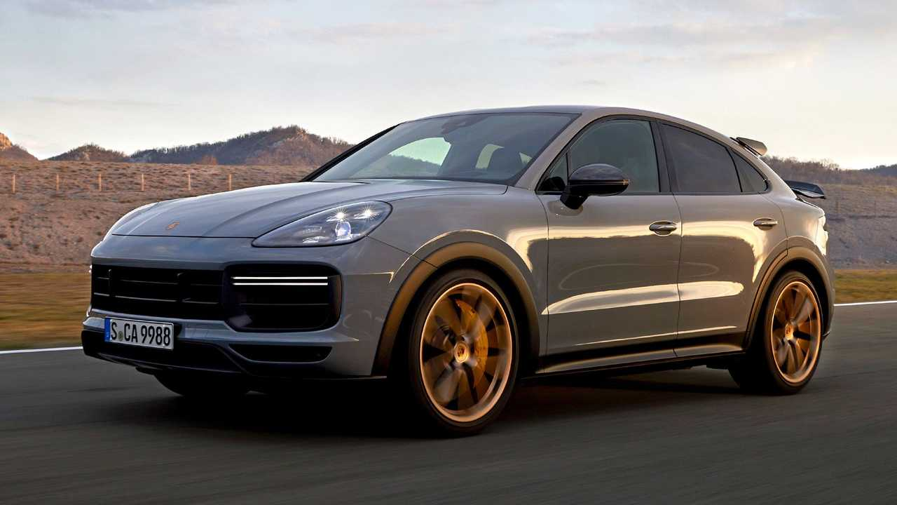 porsche cayenne turbo gt coupe front three quarters