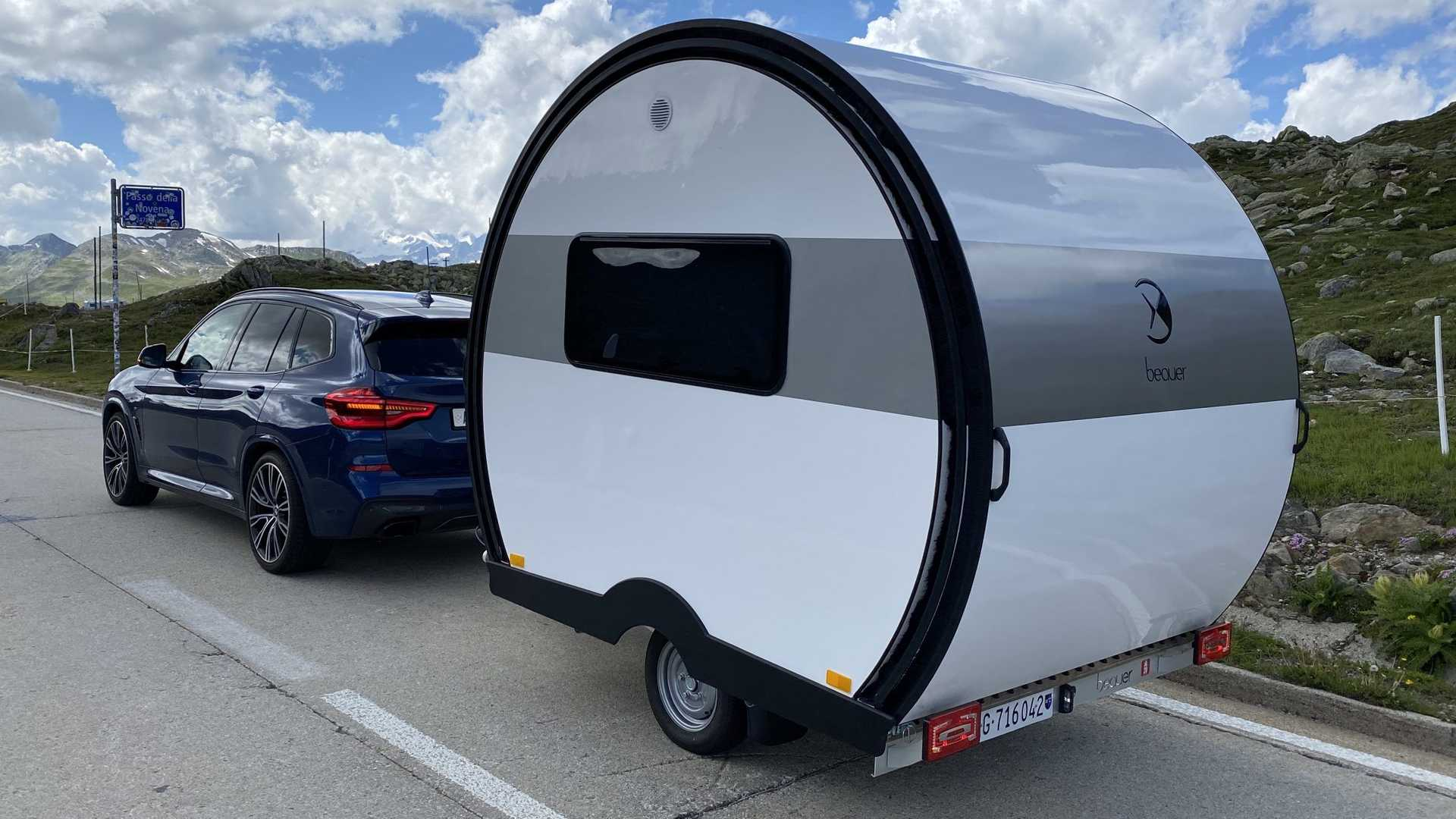 Amazing Compact Camper Trailer Expands To Three Times Its Size