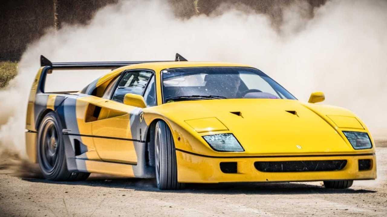 Ferrari F40 dirt course