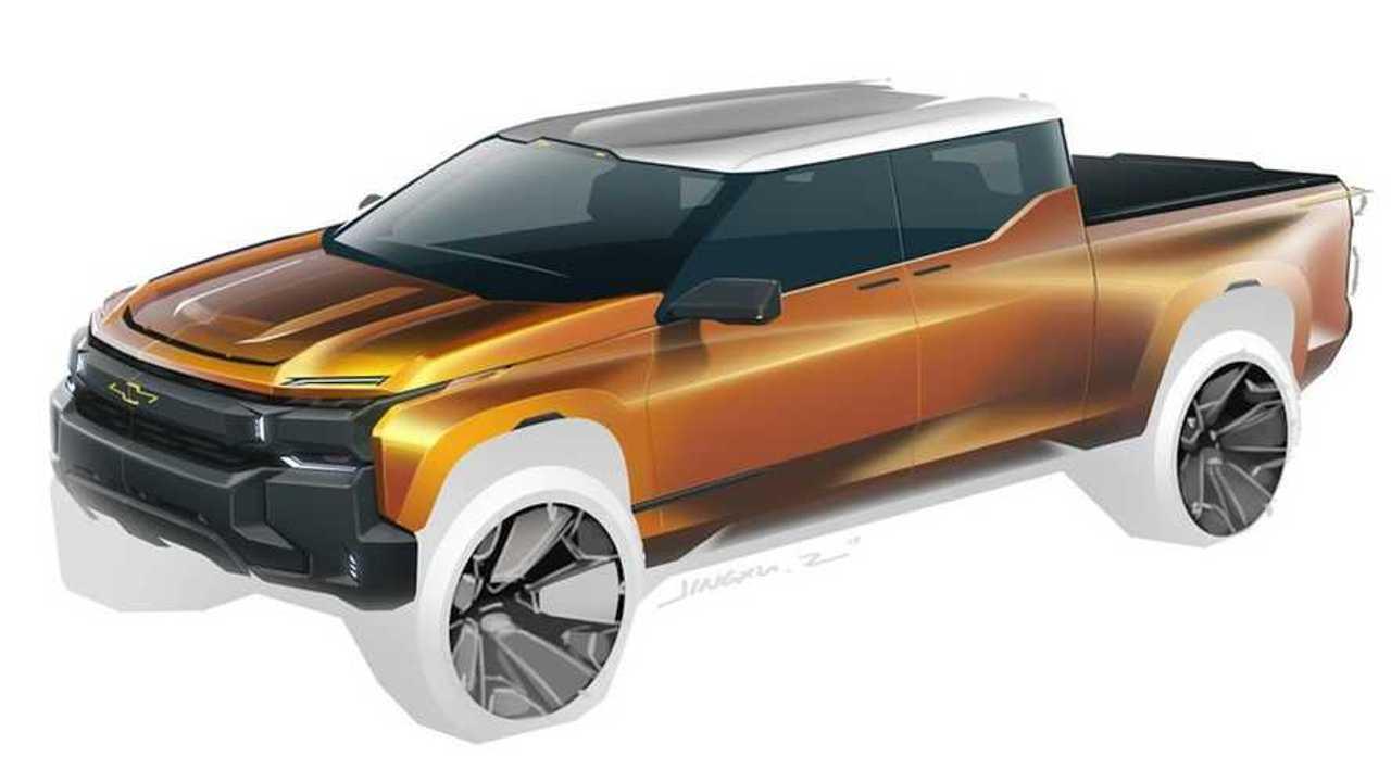 GM pickup truck design sketch.