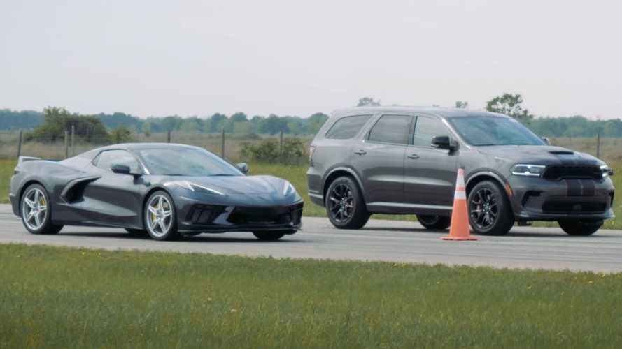 Dodge Durango Hellcat Upends Chevy Corvette C8 In A Drag Race