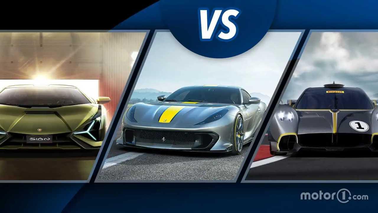 Ferrari 812 Competizione vs Lamborghini e Pagani