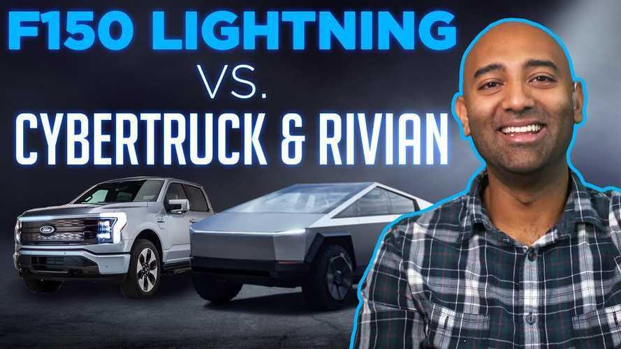 Two Bit Da Vinci Compares R1T, F-150 Lightning, And Cybertruck