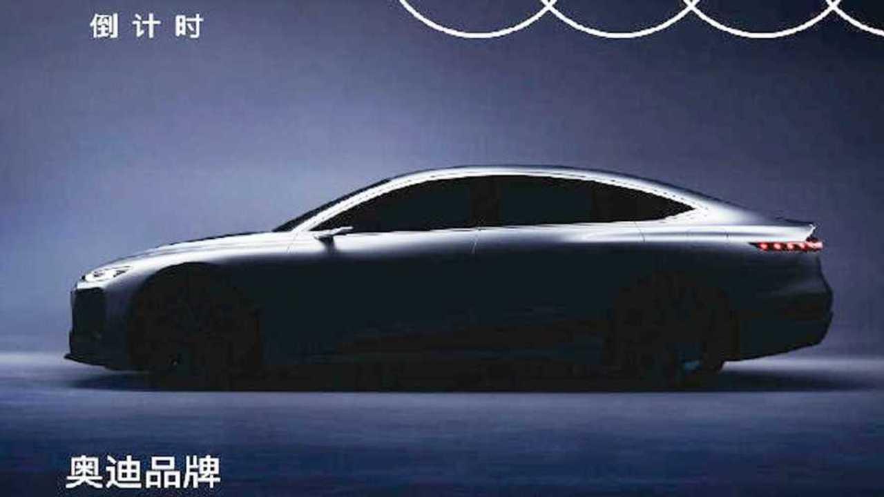 Audi A6 E-Tron İpucu Görüntüsü (Teaser)