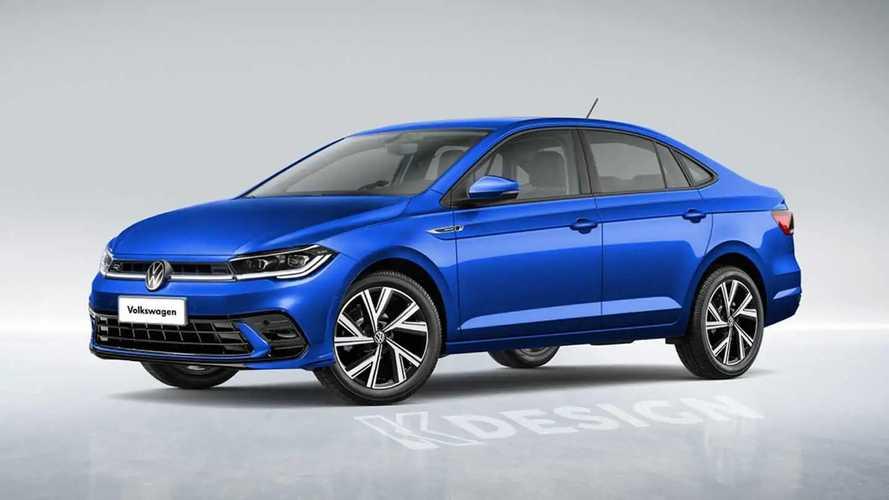VW Virtus 2023: sedã renovado tem visual antecipado em projeção
