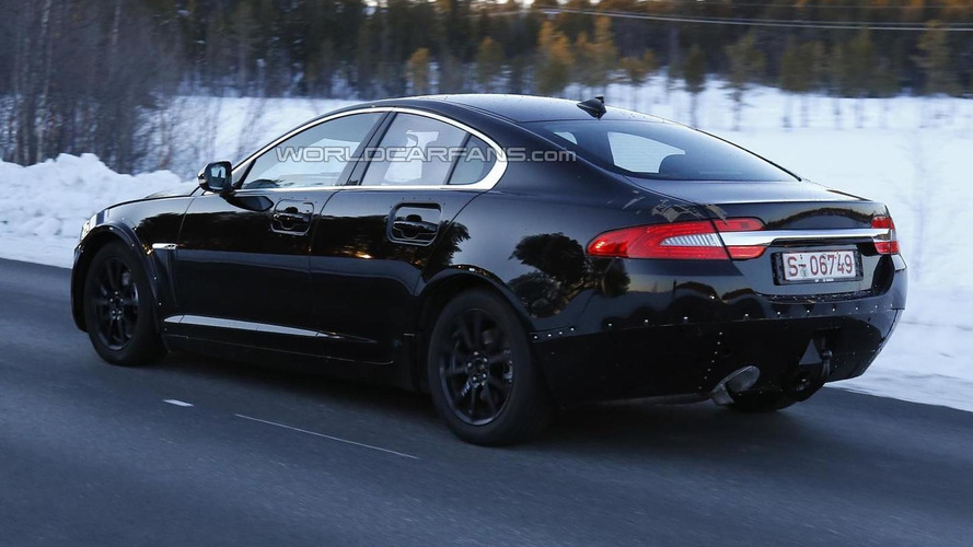 Jaguar's entry-level sedan spied for the first time