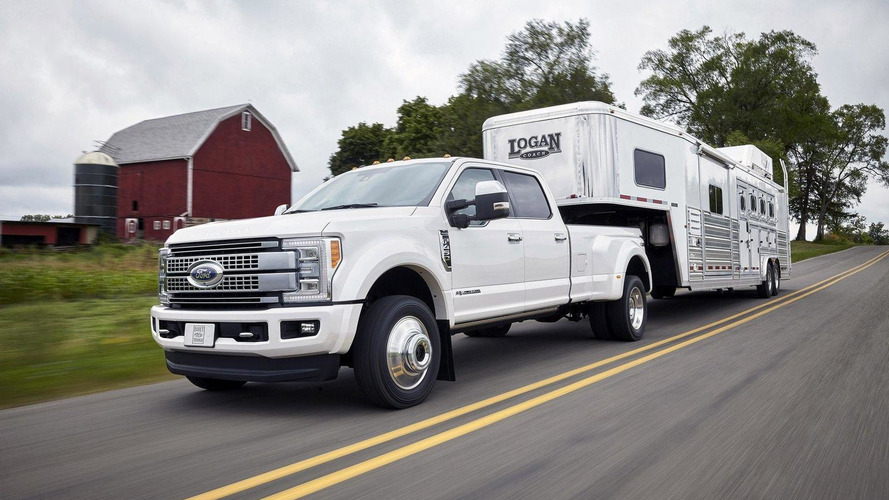 Super Duty's adaptive cruise control can activate the trailer brakes