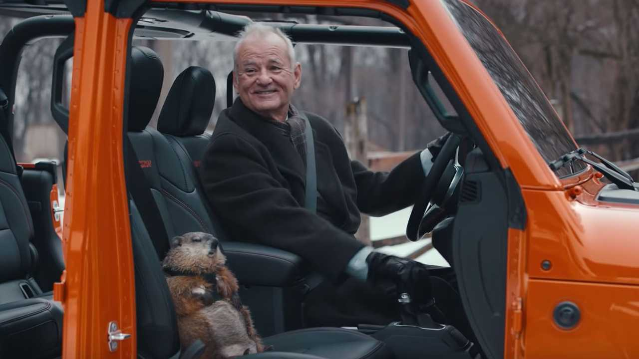 Bill Murray Drives Jeep Gladiator With Groundhog In Super Bowl Ad