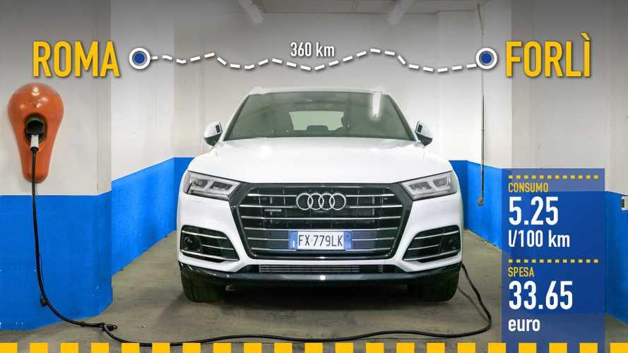 Audi Q5 ibrida plug-in, la prova dei consumi reali