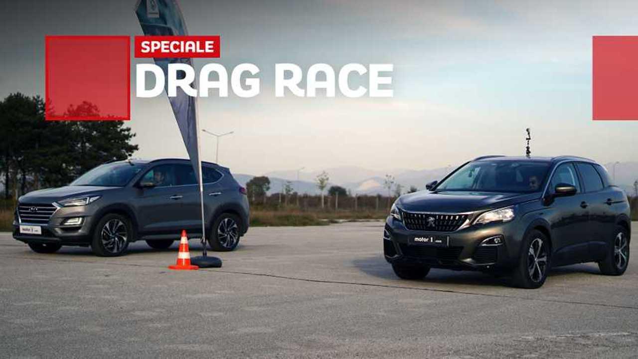 drag race 3008 vs tucson
