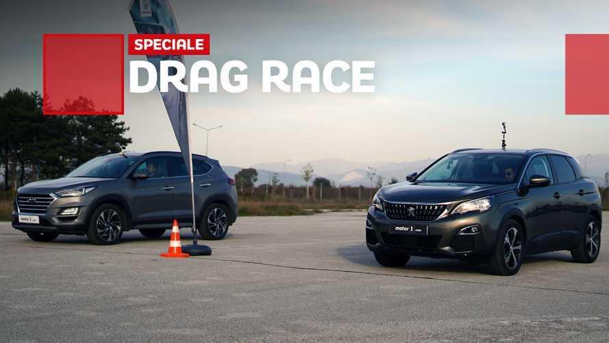 Drag race, Peugeot 3008 vs Hyundai Tucson