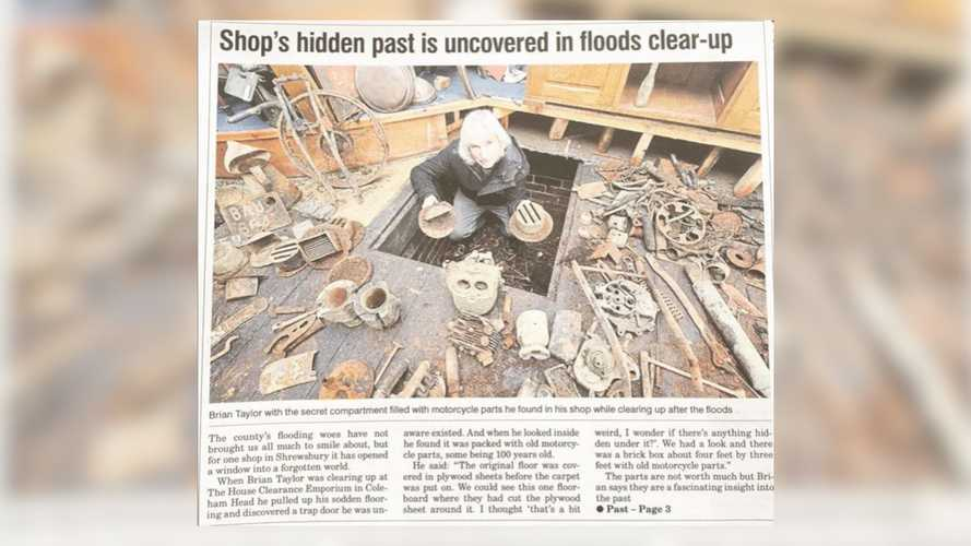 Flood Reveals Treasure Trove Of Vintage Bike Parts In UK Shop