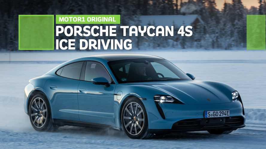 Taking the Porsche Taycan 4S ice driving in the Arctic Circle