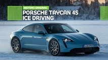 porsche taycan 4s ice driving review