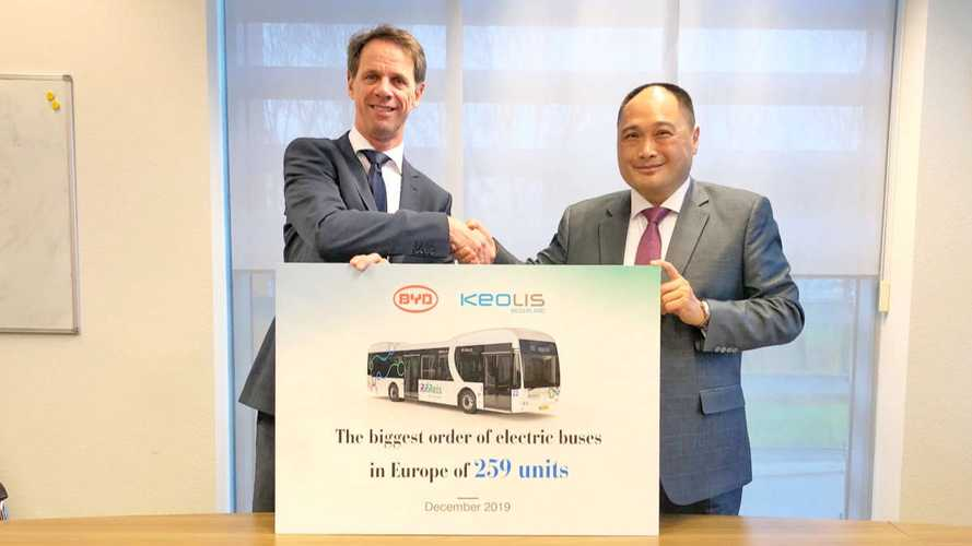BYD Scored Europe's Largest Ever Electric Bus Order