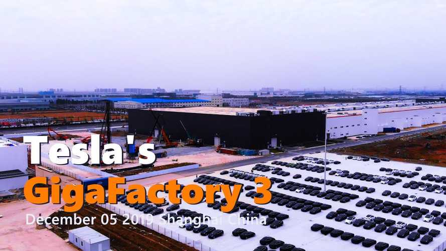 Tesla Gigafactory 3 Construction Progress December 5, 2019: Video