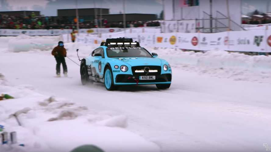 Race-Ready Bentley Continental GT Has Fun In The Snow