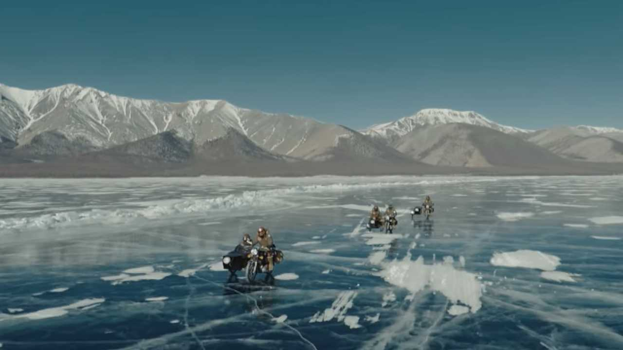 Frozen Lake Is A Most Excellent Road In This Royal Enfield Short