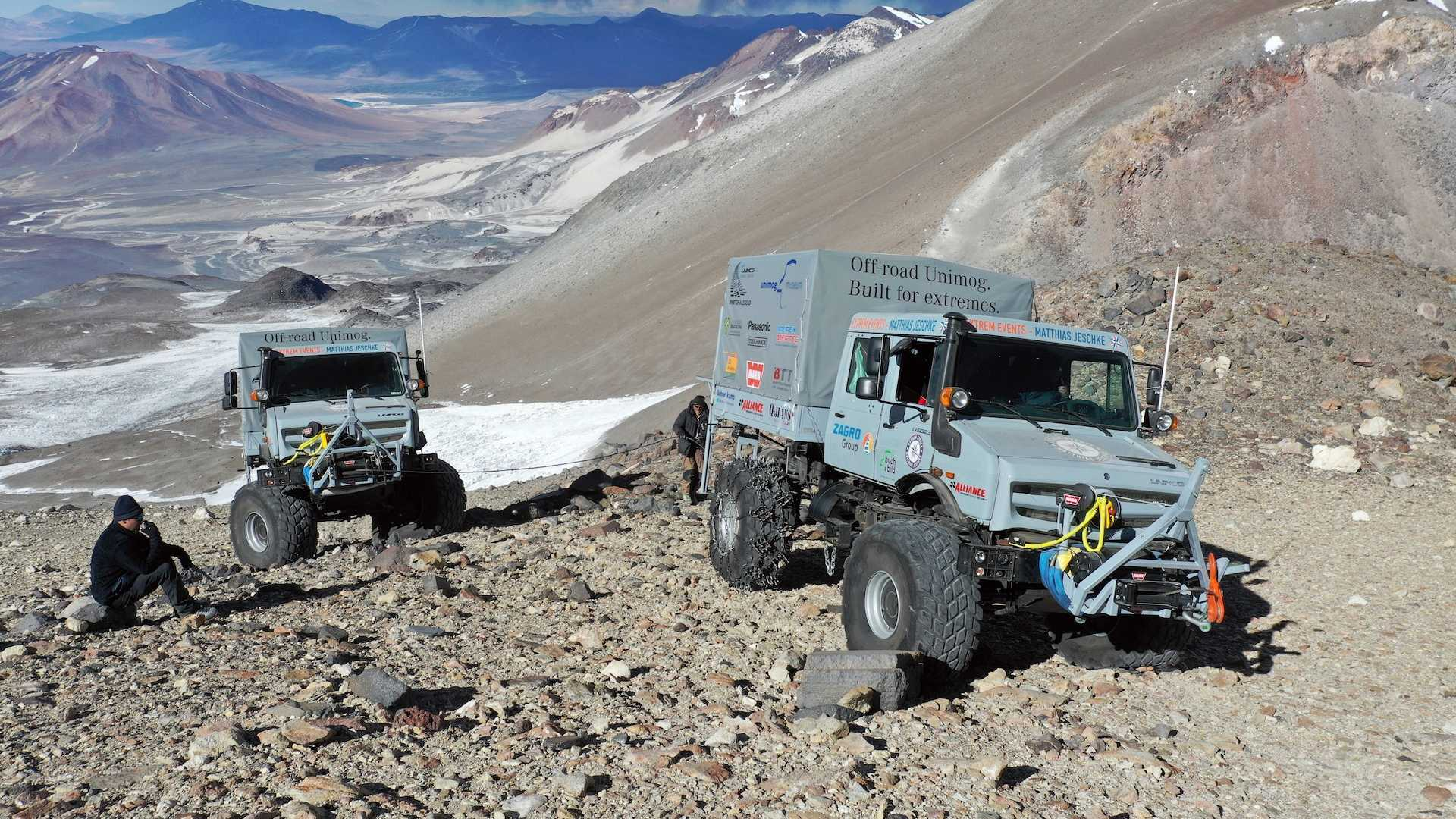 Mercedes Unimog Pair Sets New Altitude Record