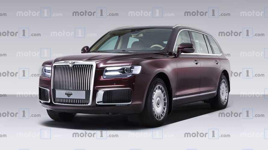 Aurus Komendant: render del futuro SUV de lujo ruso