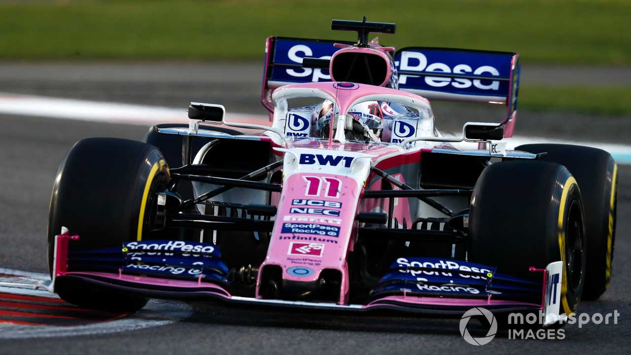 Sergio Perez, Racing Point at abu Dhabi GP 2019