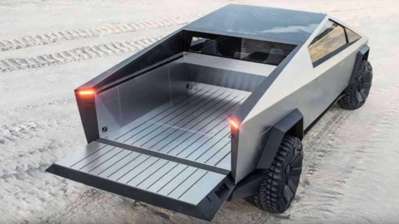tesla cybertruck rear bed