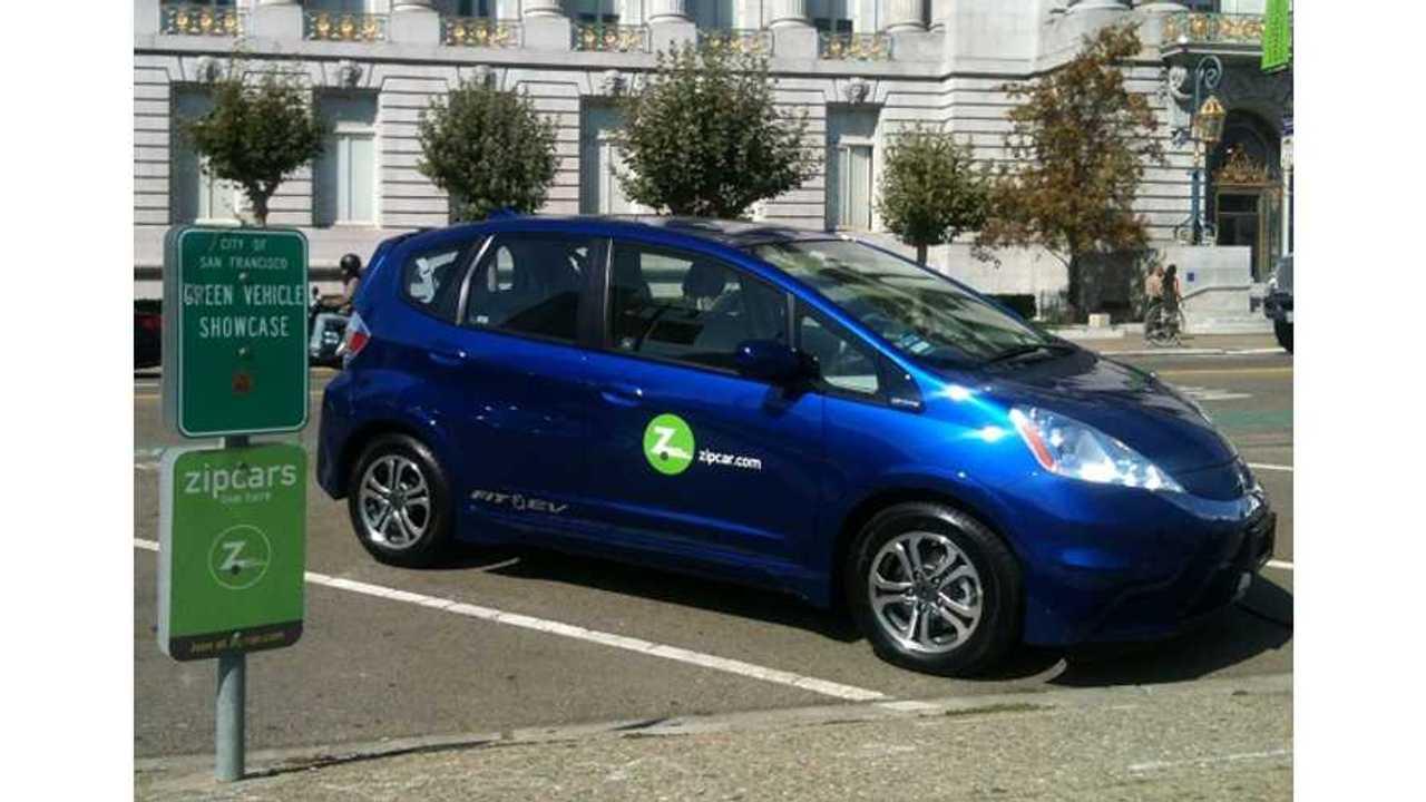 Zipcar Adds Honda Fit EV To Fleet In Sacramento