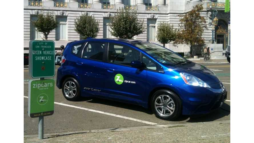 Zipcar Adds Honda Fit EV To Fleet In Sacramento