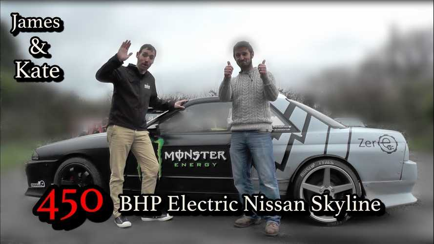 Check Out This Tesla-Powered Electric Nissan Skyline